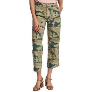NWT Free People Remy Camouflage Pants in Moss